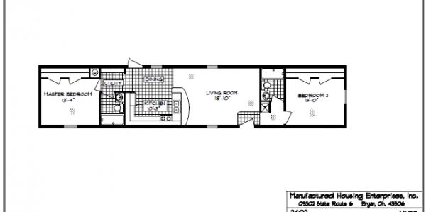 Mhe single wide horkheimer homes for 14 x 70 mobile home floor plan